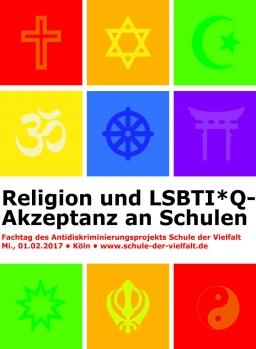 Symbole der Religionen und LGBT